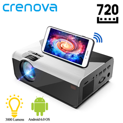 CRENOVA MINI LED Projector G08 1280*720P 3000 Lumens Android WIFI Proyector for Phone Support 4K 3D Home Video Beamer Projector