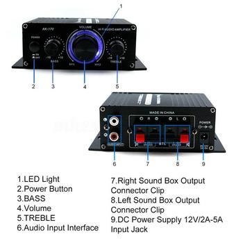 AK370 Bluetooth HiFi Power Amplifiers  6