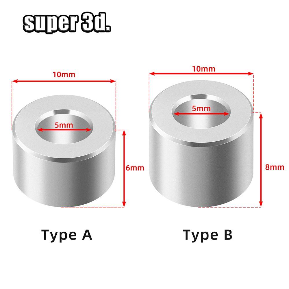10/20pcs 3D Printer Parts Openbuilds Aluminium Spacer V-slot Isolation Column Separate Pillar Quarantine Bore 5MM Pulley