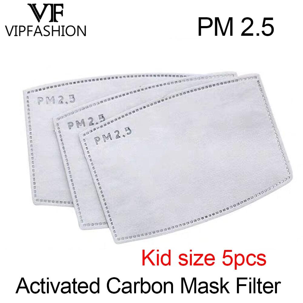 VIP FASHAION 5pcs/Lot Disposable PM2.5 Filter Kid Mouth Mask Anti Haze Bacteria Proof Flu  Mask Filter Paper Health Care