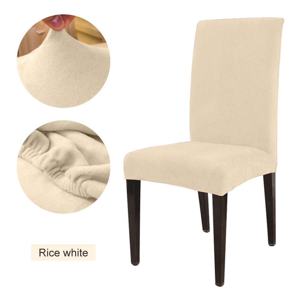 1 to 6 Pcs Removable Chair Cover Made with Stretchable Thick Plush Material for Banquet Chair 17