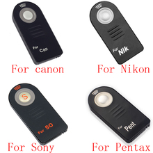10/50pcs ML-L3 RC-6 IR Wireless Remote Control for Canon nikon Sony pentax Controller with Battery цены онлайн