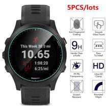 Película protetora para garmin forerunner, pacote com 5 unidades de vidro temperado para 935 945 245 245m 45 esportes relógio inteligente pulseira película protetora