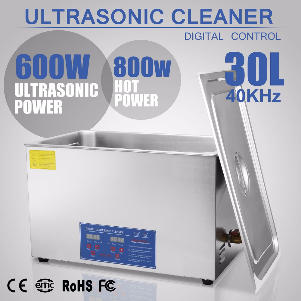 30L cleaner ultrasonic cleaner Stainless Steel cleaner tank cleaner  Jewelry watch cleaner home cleaning Digital|heater|heater heater|heater timer - title=