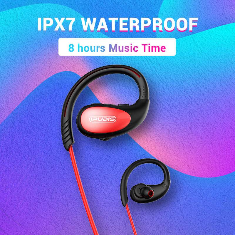 IPUDIS banda para el cuello auriculares Bluetooth IPX7 impermeable inalámbrico auricular deporte auriculares HiFi estéreo con micrófono