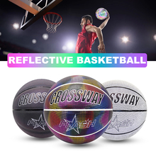 Glowing Reflective Basketball Luminous Flashing Basketball Night Training Sports Indoor And Outdoor Basquete Basquetbol
