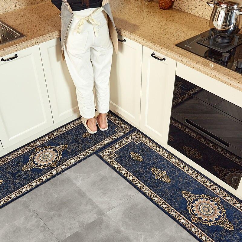 tapis de sol long a bande souple resistant a l huile antiderapant absorbant resistant a la salete pour cuisine 45x180