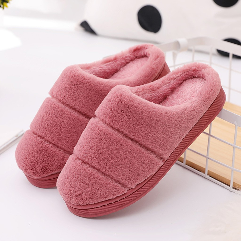 H73d541bcea3f4978a48299adf33e6a39w Pantufa masculina e feminina, chinelo de pelo e listrado para casa, inverno 2020 sapatos pantufa