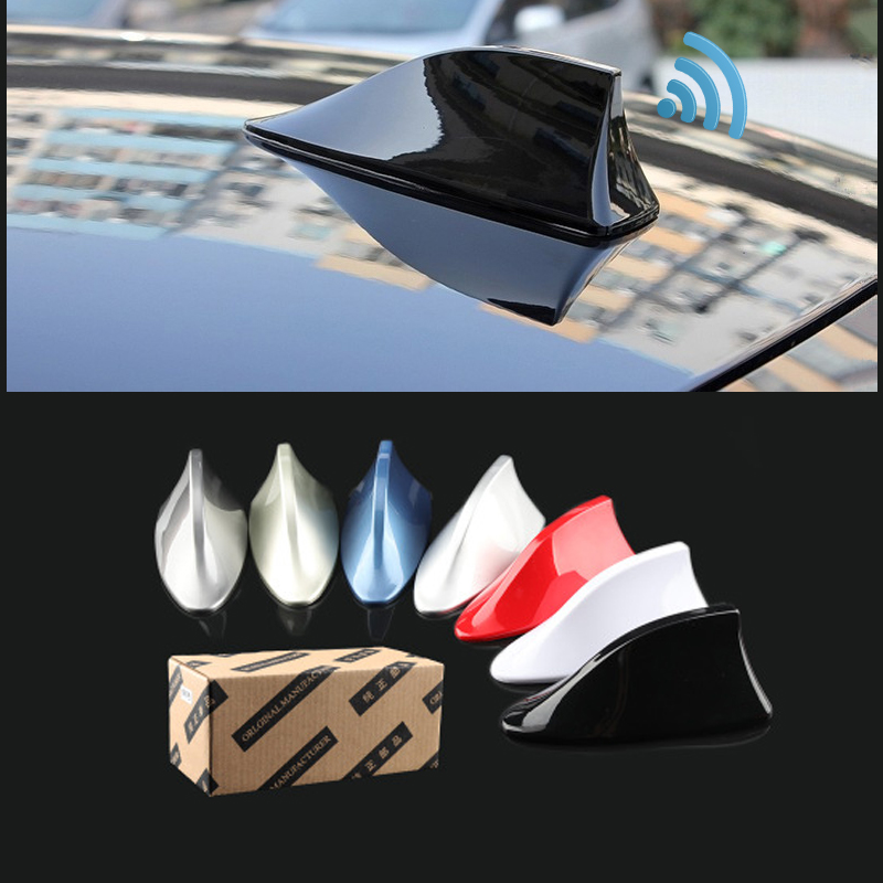 Image 2 - Car Shark Fin Signal Aerials Antenna Universal For Lada Vesta Granta For Kia Rio Car Styling Radio Signal Aerials Roof Antennas-in Aerials from Automobiles & Motorcycles