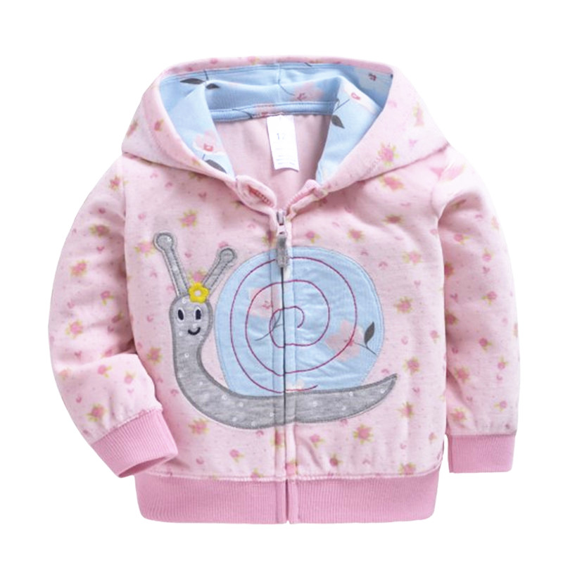 2020 New Baby Girls Long Sleeved Pink Cat Hoodie Fleece Tops Toddler T-shirt Kids Clothes Boys Clothes For 9m-3t
