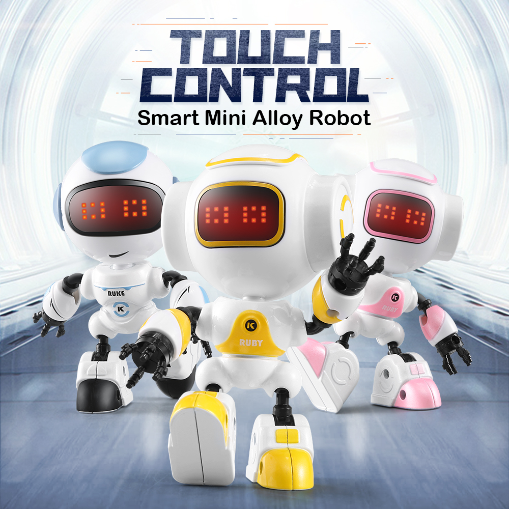R8/R9 Robot Touch Control LED Eyes Robo Smart Intelligent Voice DIY Body Gesture Model Educational Toys Robots For Children Toys