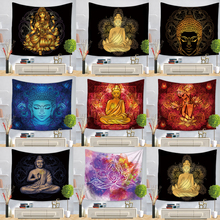 Indian Buddha Statue Tapestry Wall Hanging Wall Cloth Tapestries Psychedelic Yoga Carpet Home Decoration