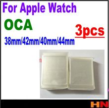 3pcs OCA Optical Clear Adhesive Film Sticker For Apple watch 38mm/42mm/40mm/44mm Series 1 2 3 4 LCD Screen Glass Repair(China)