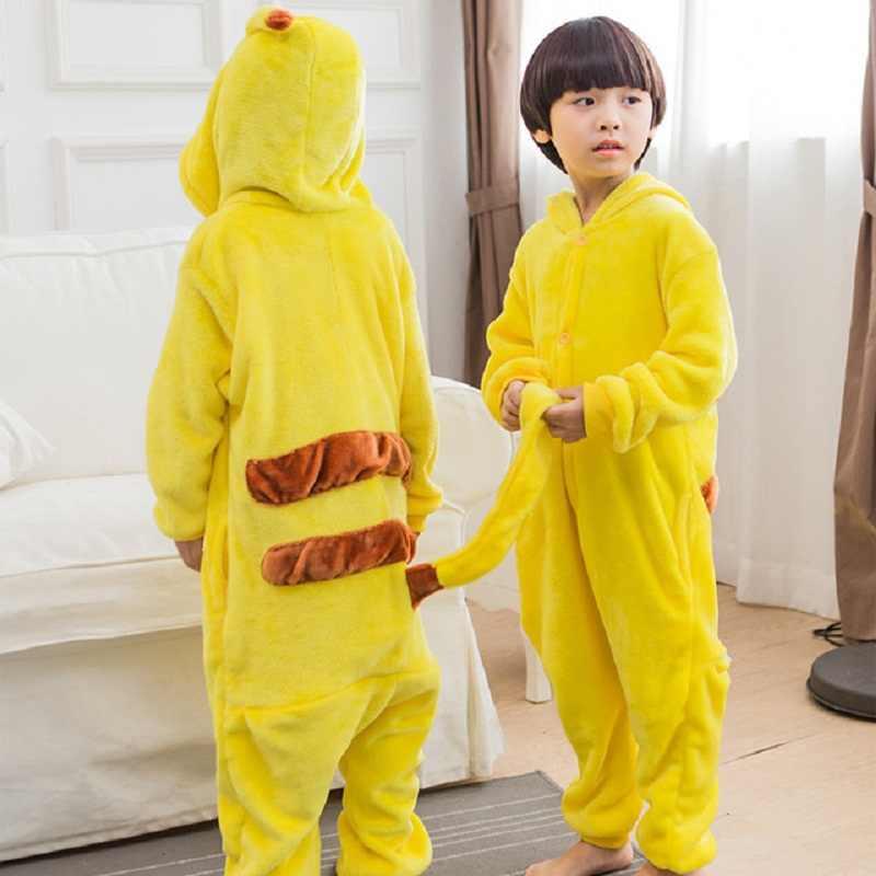 ユニセックス着ぐるみポケモン子供のためのパジャマ onesies パジャマ漫画ハロウィンピカチュウ衣装マッチング家族衣装