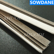 50 Pcs ( 4mm Width ) Dental Polyester Polishing Stick Strip with Single Side polishing side fine and coarse sand)