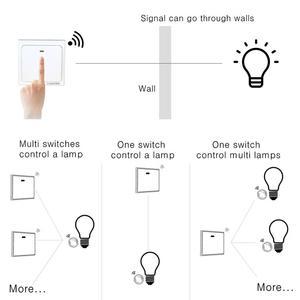 Image 5 - Interrupteur RF 433Hz sans fil interrupteur à distance 90 260V lampe lumière télécommande interrupteur ON OFF fil récepteur mural (vendu séparément)