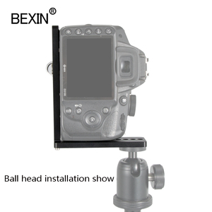Image 4 - Bexin universal Lengthen L Shape Vertical Shooting Quick Release L Plate Bracket Grip 1/4 screw For Nikon conan sony DSLR Camera