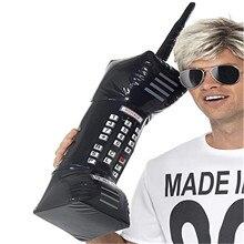 Забавный игрушка надувной радио бумбокс надувной мобильный телефон реквизит для 80 90 вечеринка украшения ПВХ надувной игрушки для мужчин женщин