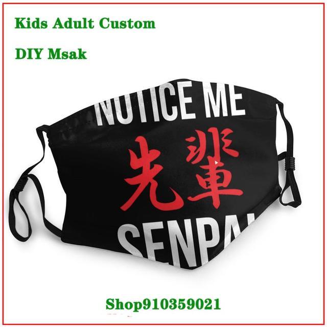 Notice Me Senpai Red DIY mondmasker Latest design masque facial lavable   New Arrival cloth face masks    High Quality face mask