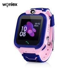 Wonlex – montre connectée GW600S pour enfants, GPS, Anti-perte, horloge, bébé, SOS, caméra, WIFI 2G, suivi scolaire, étanche