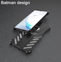 Luxury Batman Case Metal Aluminum For Samsung Galaxy Note10+ 5G Note10 Plus case Cover Bumper  Armor Coque Fundas kickstand