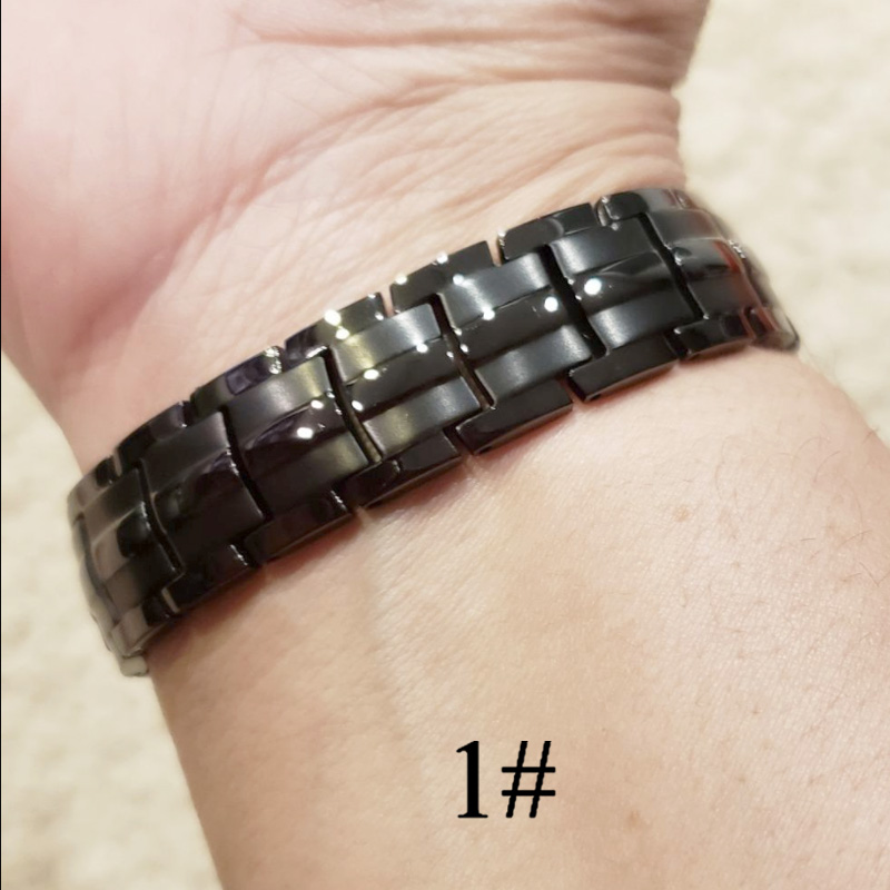 Men Women Magnetic Health Bracelet Black Titanium Steel Power Therapy 4in1 Magnets Negative Ions Germanium Bangles Wholesale