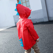 Outdoor Cute Dinosaur Polyester Baby Kids Raincoat Waterproof Rain Coat Children Impermeable Poncho Boys Girls Rain Jacket Kids(China)