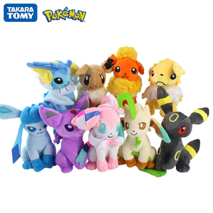 17-25cm Pokemon Pikachu Espeon Jolteon Umbreon Vaporeon Leafeon Glaceon Sylveon Flareon Anime Figure Plush Dolls Toy Kids Gift