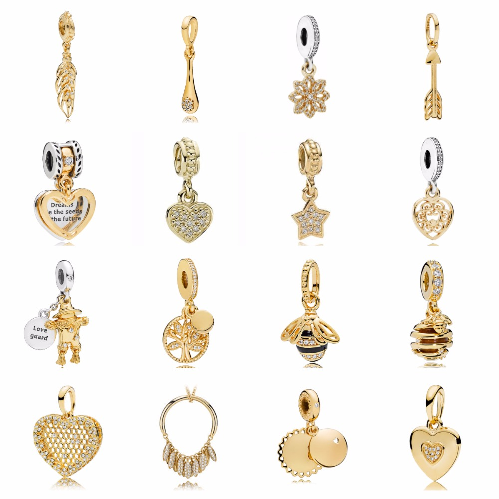 PDB DZ  01 High Quality Summer Collection Popular Feather Seeds Shine Queen Bee Shine Family Traditional Charm Necklace Pendant.