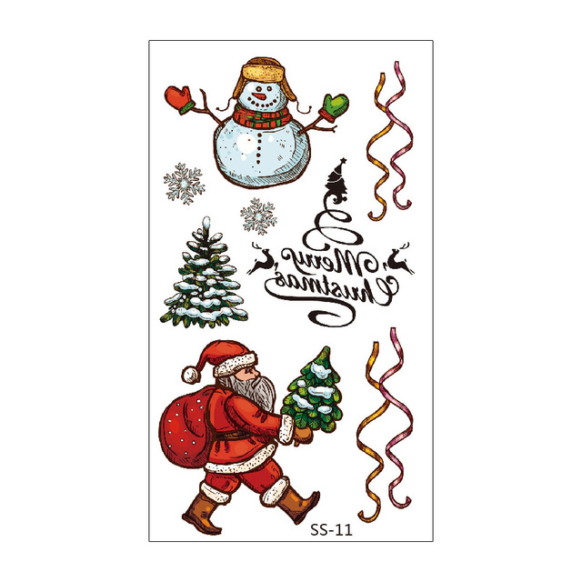 Christmas Decorations with Santa Claus Christmas Tree Socks Reindeer Gift Bags for Kids Christmas Party Fun Christmas Holiday Tattoo for Kids Rainmae Christmas Temporary Tattoos Stickers 30 sheets