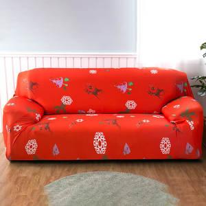 Image 2 - Housse de canapé élastique de Style noël