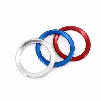 1pc Steering Wheel Decoration Circle Cover Sticker For BMW X1 E60 E36 E39 E46 E30 E60 E90 E92 F10 F30 F25 Car-styling image