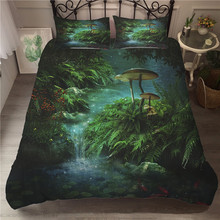 A Bedding Set 3D Printed Duvet Cover Bed Set Fairy Mushroom Home Textiles for Adults Bedclothes with Pillowcase #MG10 шторы тканевые seven fairy home textiles 6036 5