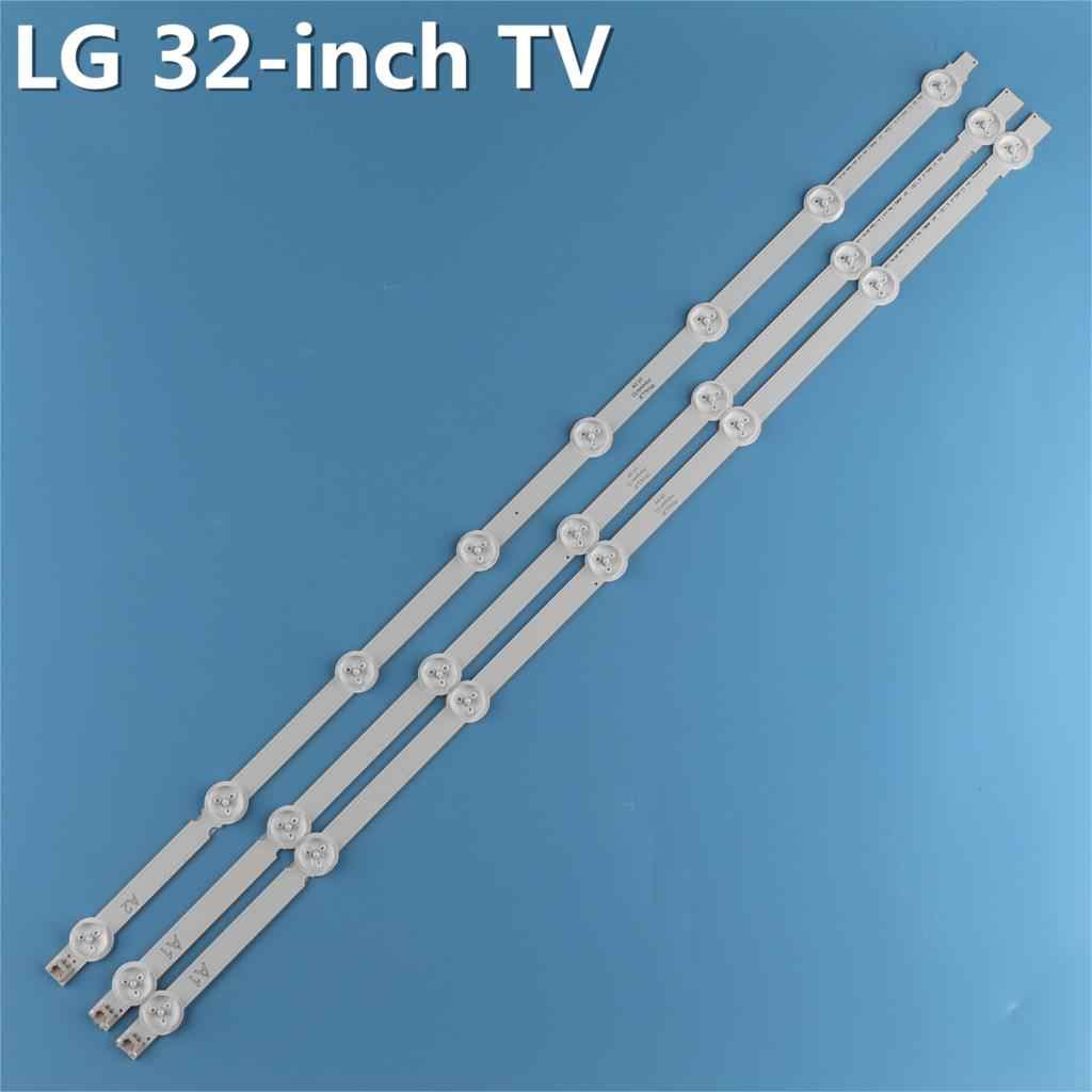 "3pcs(2A1*7LED,1A2 * 8LED)LED תאורה אחורית בר עבור LG 32 ""ROW2.1 Rev 0.9 A1/A2-Type טלוויזיה LC320DXE 6916L-1295A 1296A 32LN575s LC320DXE-SG"