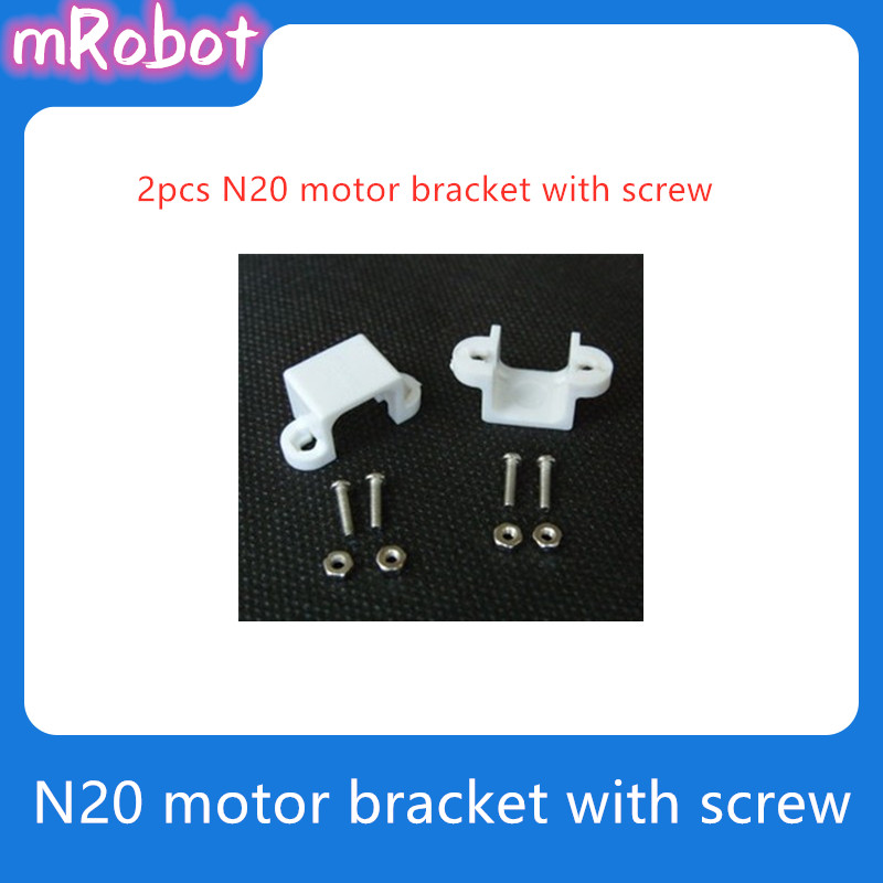 2pcs Motor Bracket For 3PI MiniQ <font><b>N20</b></font> Micro Motor Mount Set 12mm DC <font><b>Gear</b></font> Motor Mounting Bracket DIY RC Toy Car Part Accessory image