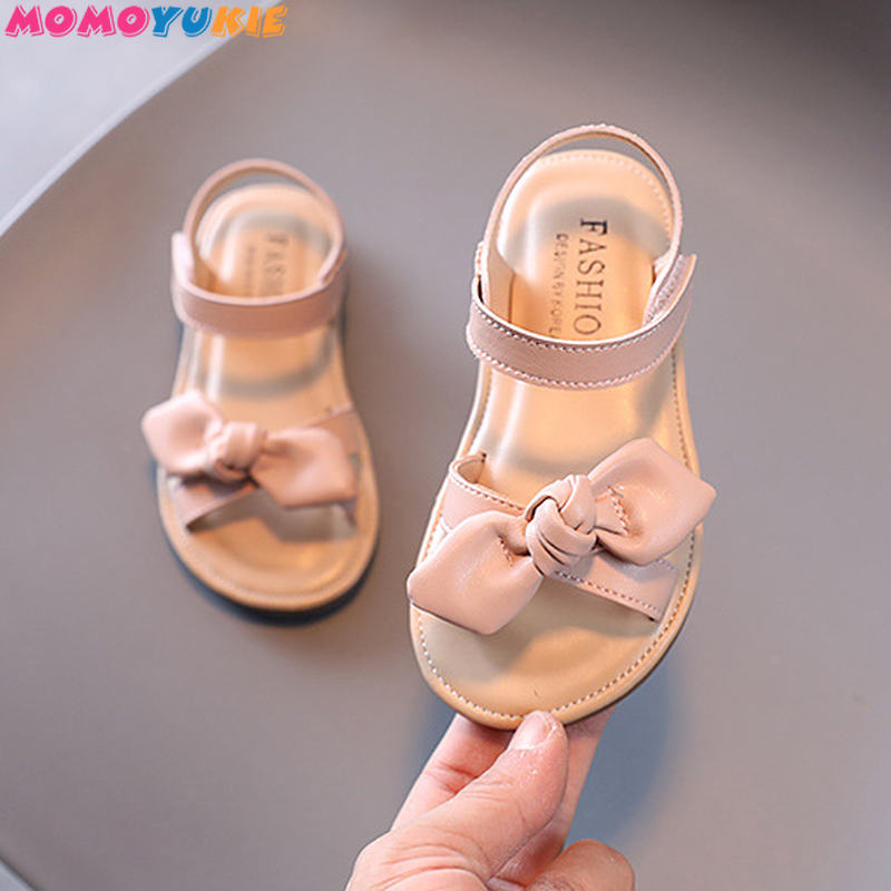 Casual Butterfly-knot Non-slip Soft Kid Toddler Baby Shoes Summer Korean Little Children's Girls Princess Open Toe Beach Sandals