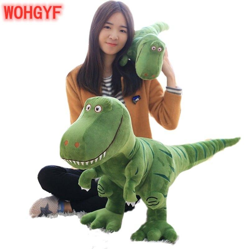 1pc Big Size 40-100cm New Dinosaur Plush Toys Cartoon Tyrannosaurus Cute Stuffed Toy Dolls For Kids Children Boys Birthday Gift