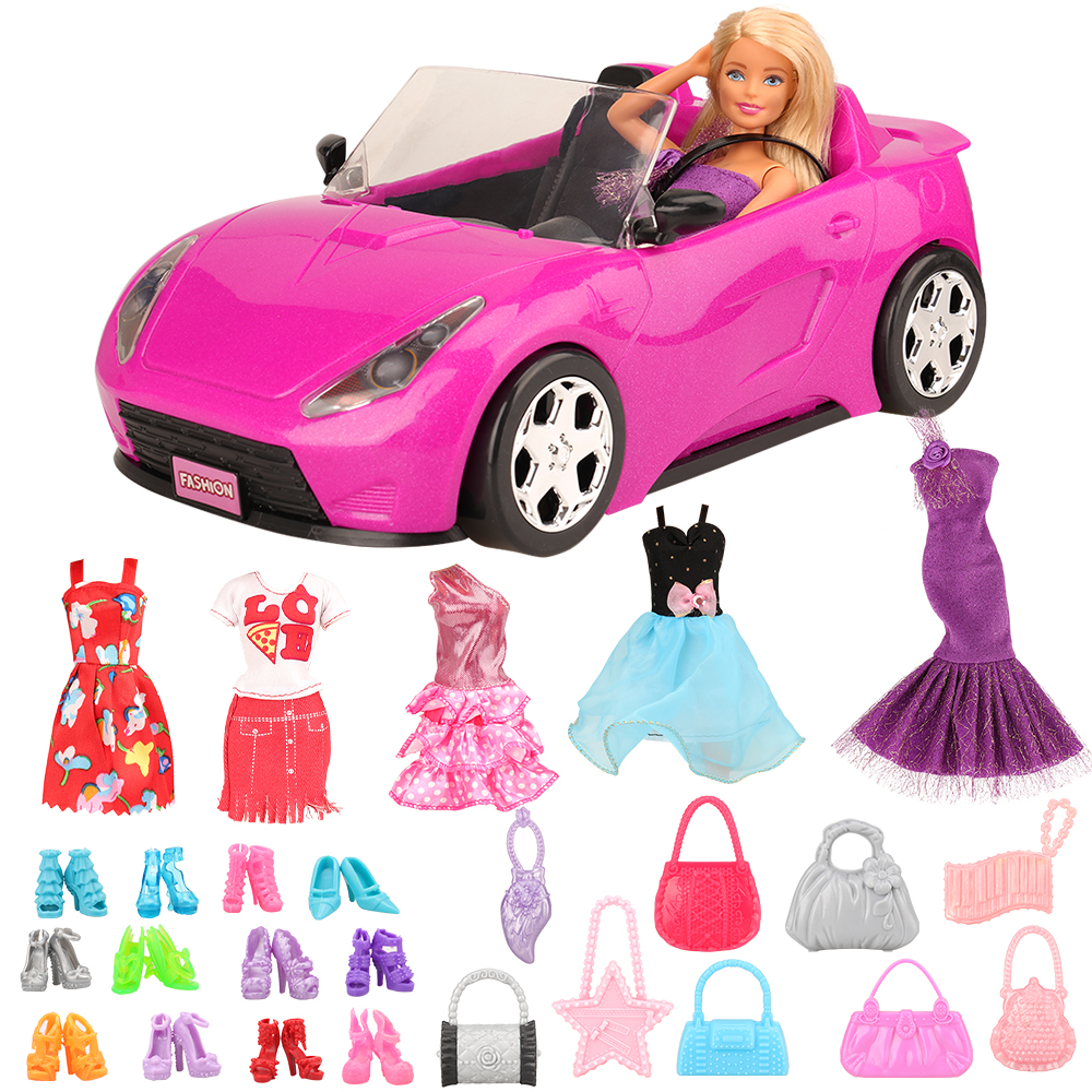 Newest High Quality Handmade Doll Toys Accessories Dress Clothes Shoes Cars For Barbie Game Best DIY Birthday Present For Girl