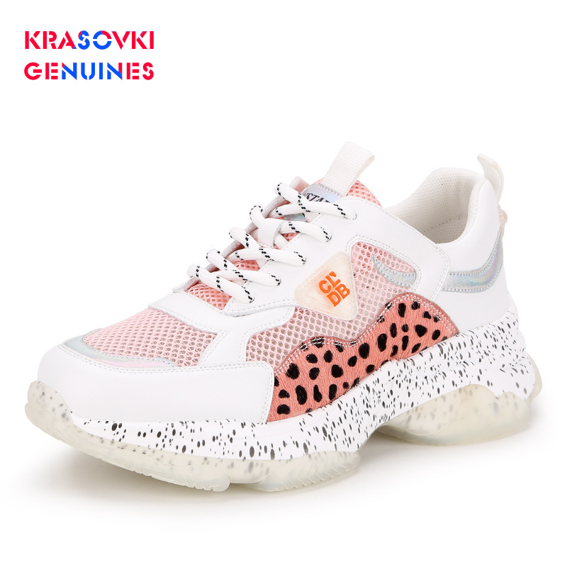 New Krasovki Genuines Sneakers Women Mixed Colors Autumn Fashion Dropshipping Cross Tied Leopard Round Toe Breathable Causal Shoes