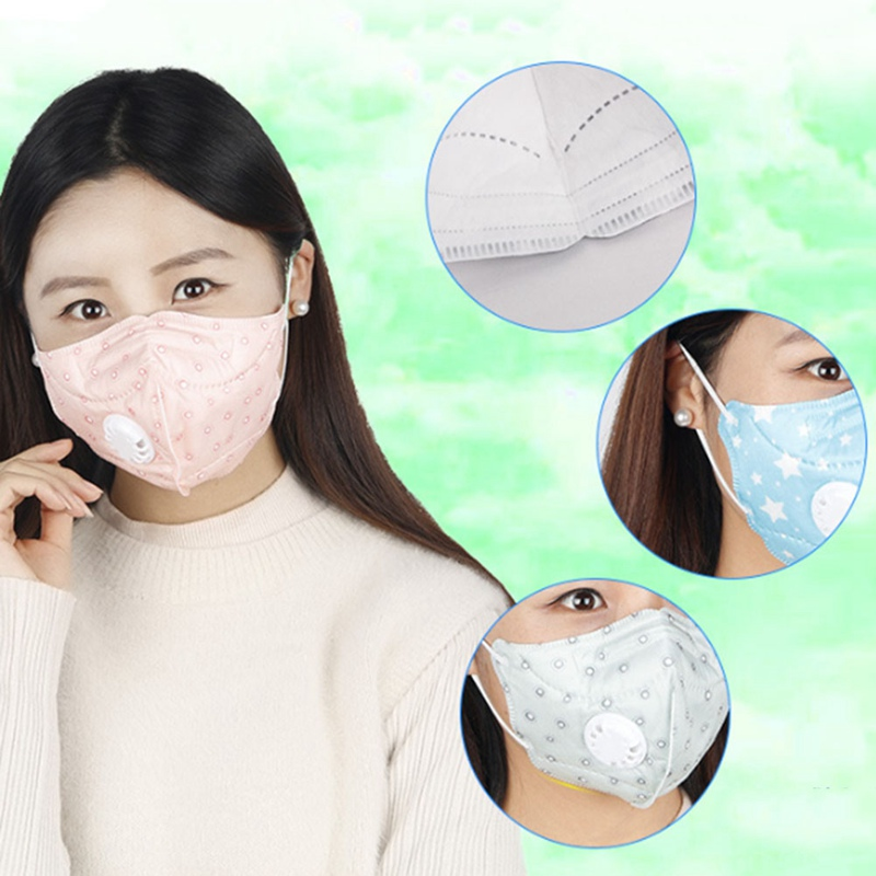 5Pcs/Lot Fold Flat Dust Mask With Valves For Work Safety House Clean Dust-Proof Mask Disposable Respirator PM2.5 N95 Random