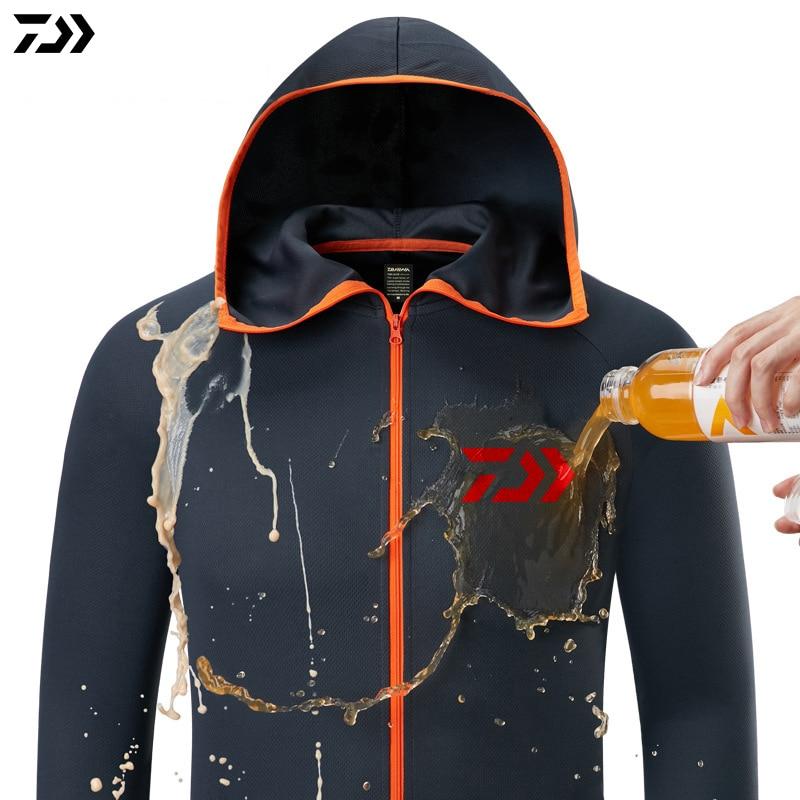 Daiwa Shirt Ademende Vissen Kleding Mannen Waterdichte Vissen Shirts Lange Mouwen Vissen Jas Sneldrogend Vissen Kleren