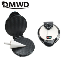 DMWD Electric Egg Roll Maker DIY Ice Cream Cone Machine Crispy Omelet Mold Crepe Baking Pan Waffle Pancake Pie Frying Grill Iron