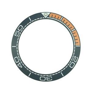 Image 2 - Nowy 41.5mm matowy czarny/niebieski i 1/4 pomarańczowy ceramika o wysokiej jakości wkładka Bezel dla Sea master Watch zegarki wymienić akcesoria