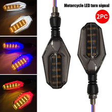Универсальный указатель поворота светильник мотоцикла 12V Индикатор светильник бег светильник сигнальная лампа прочный светодиодный поворотник