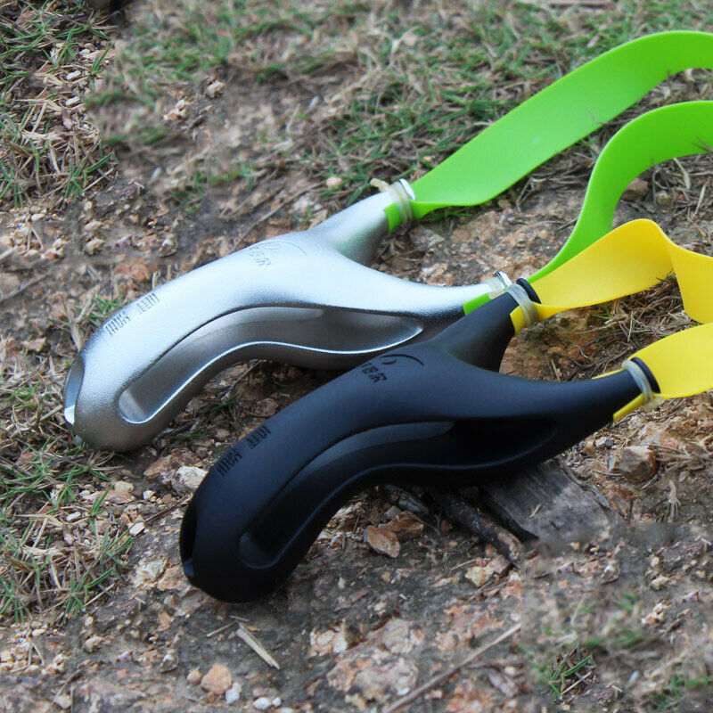 Powerful Slingshot Archery Slingbow Hunting Catapult Flat Rubber Band Shooting