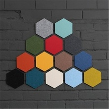 Creative  Multipurpose felt hexagonal  colorful wall sticker decorative panel mural decoration