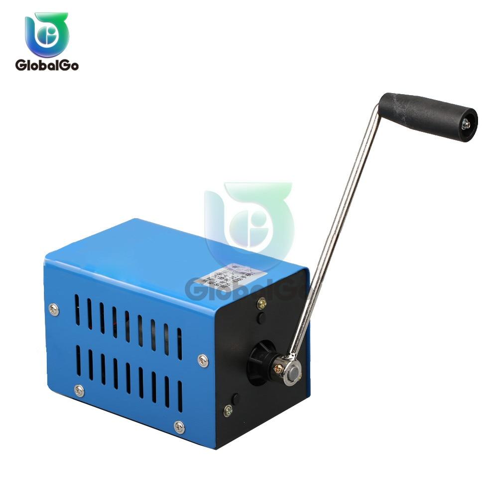 carregador portatil usb de alta potencia gerador portatil de emergencia de mao manivela carregador power bank