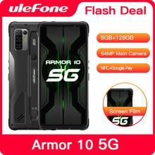 Ulefone Armor 10 5G IP68 IP69K étanche robuste Smartphone 6.67 pouces 8GB 128GB 64MP caméra NFC sans fil Charge téléphones mobiles