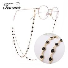 Teamer 78cm Black Crystal Beads Glasses Chains Fashion Women Men Eyewear