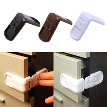 Baby Safety Cabinet Locks Straps Kids 90° Right Angle Safety Latch Cabinet Door Fridge Drawer Cupboard ABS Wardrobe Protector